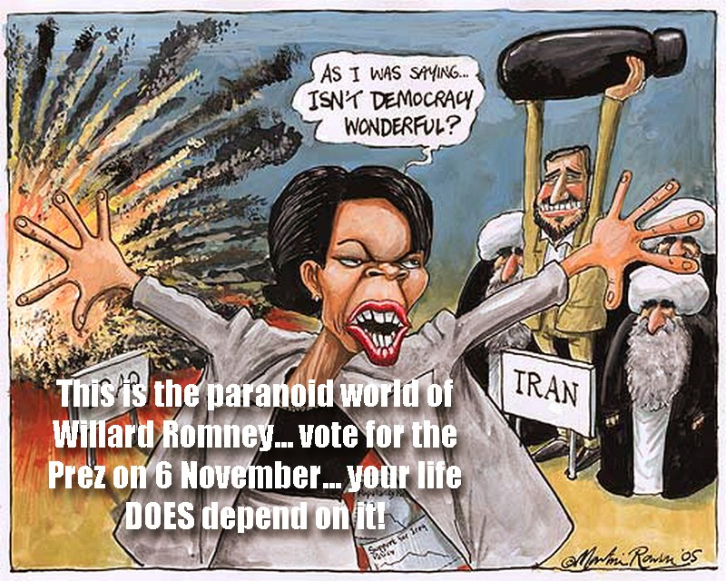 00 Condi Rice. political cartoon. 09.12