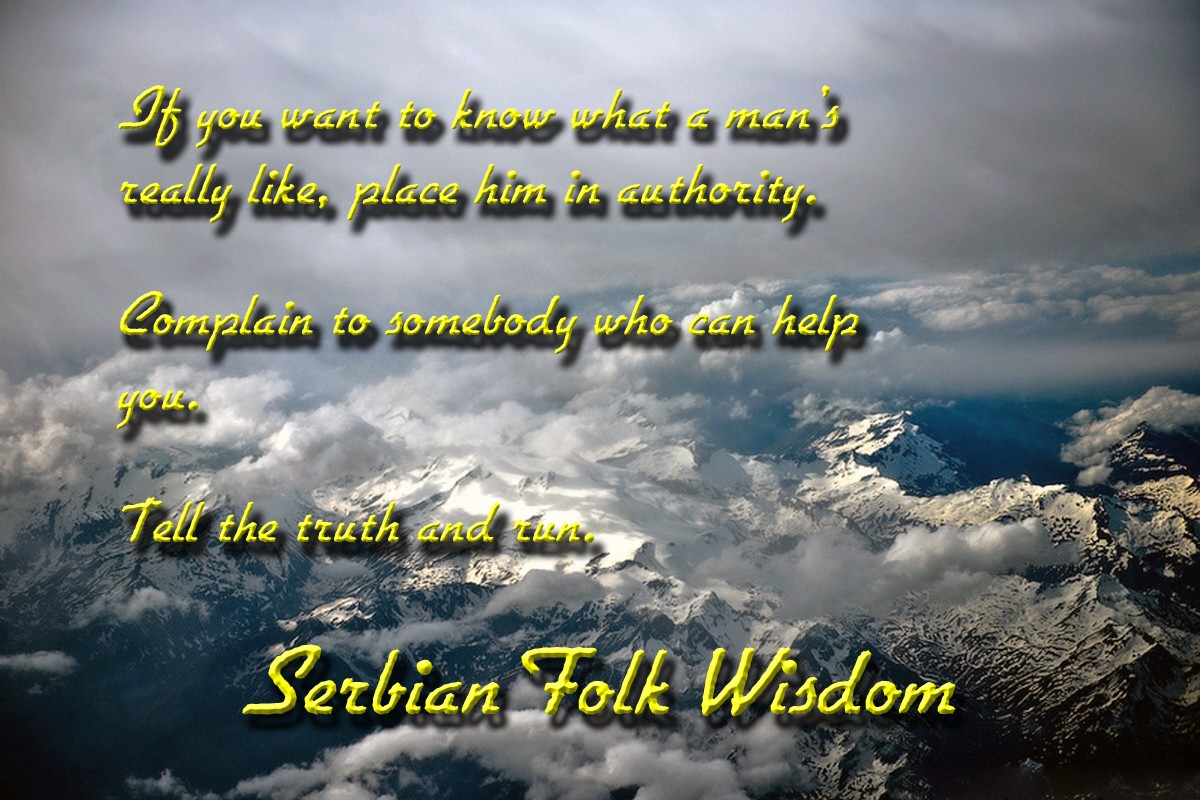 00 Serbian folk wisdom. 23.09.12