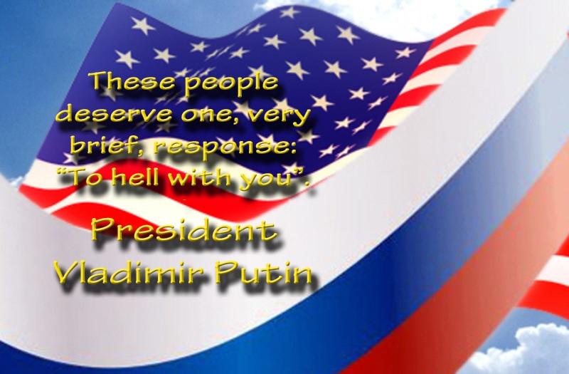 00 USA Russia flags. Putin quote. 27.09.12