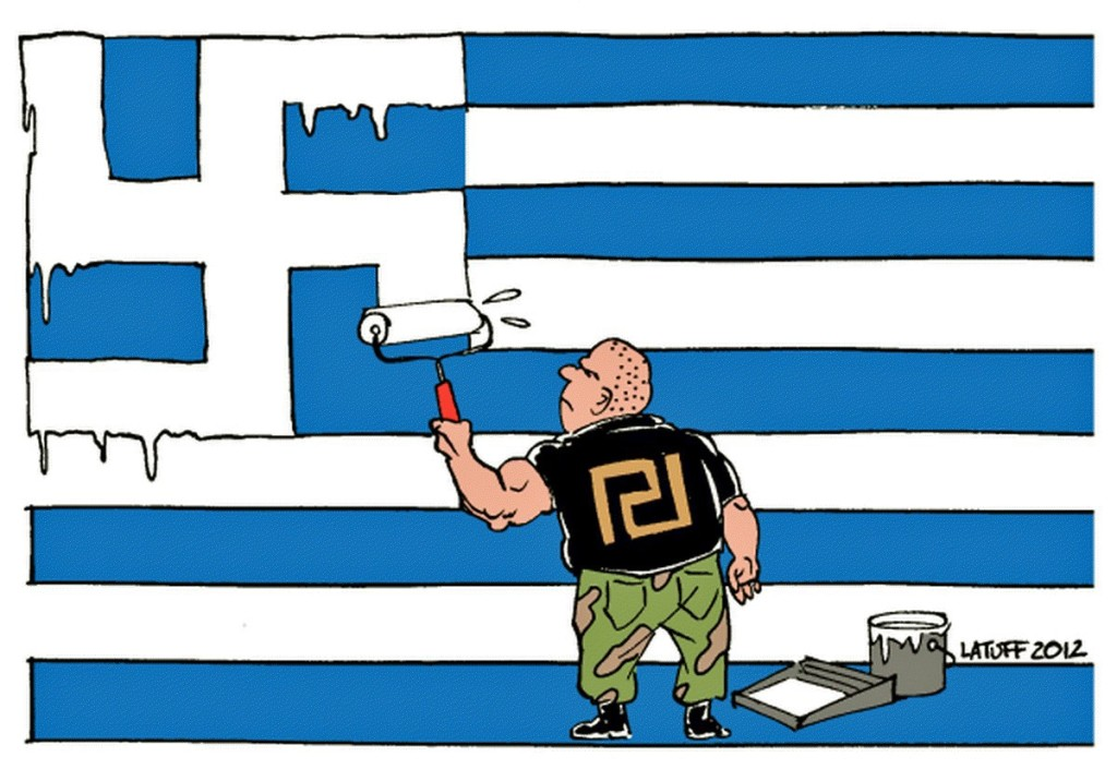 00 Carlos Latuff. Nazis in Greece. 2012