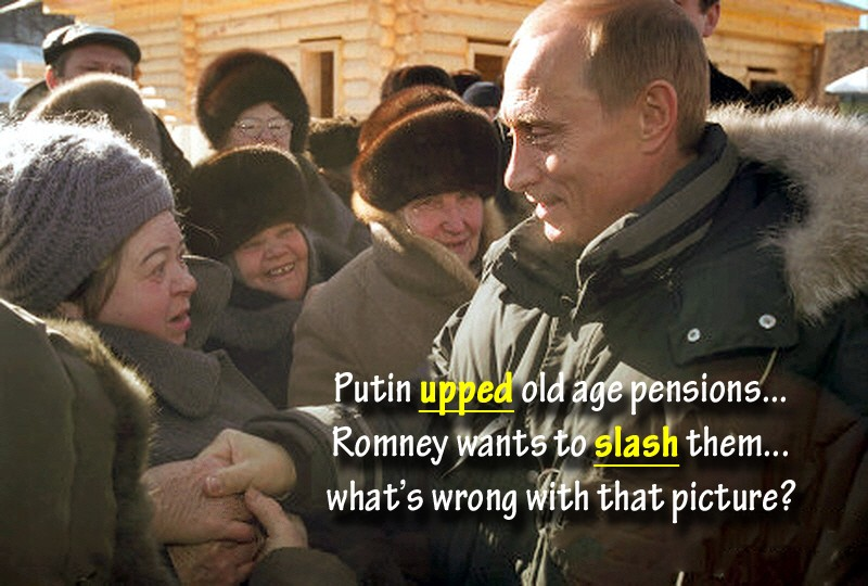 00 Putin and old age pensioner. 07.10.12