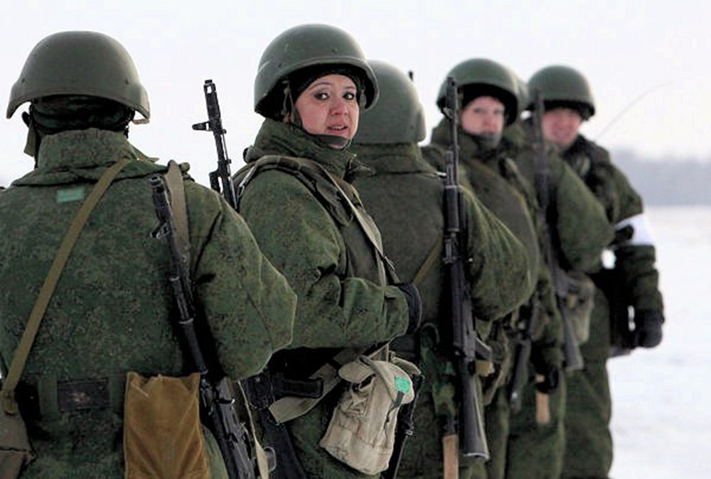 00 female VDV paratrooper 02. Omsk. 30.11.12