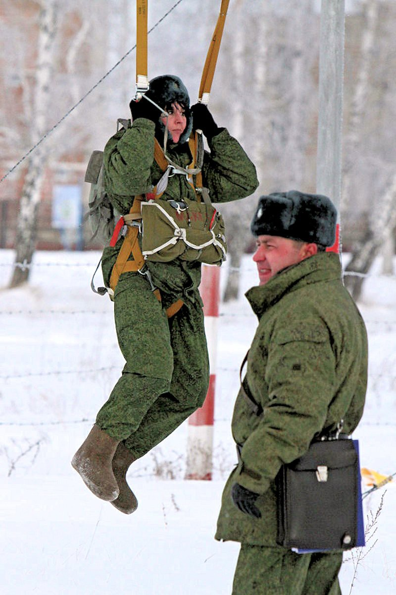 00 female VDV paratrooper. Omsk. 30.11.12