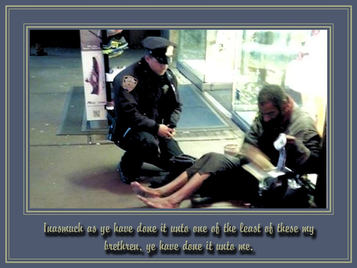 00 NYPD Cop and Homeless Guy. 01.12.12