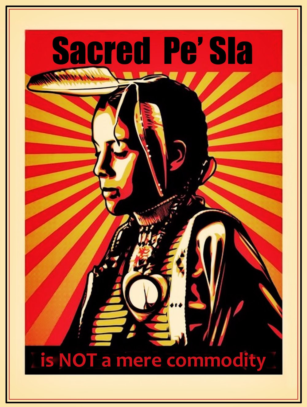 00 Sacred Pe' Sla is NOT a Mere Commodity. Sioux. 13.12.12