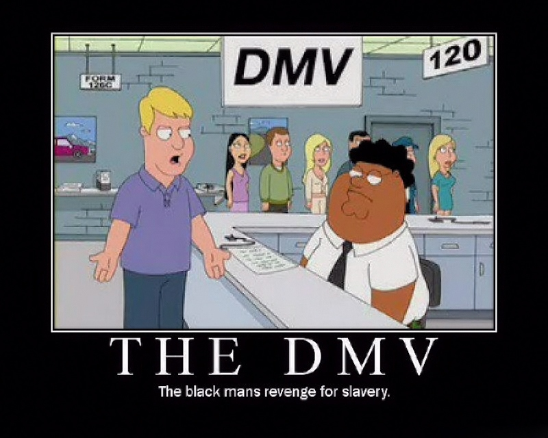 00 The DMV. the Black Man's Revenge for Slavery.