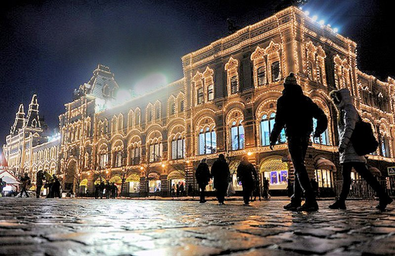 00a Moscow New Year Christmas decorations. 11.12.12