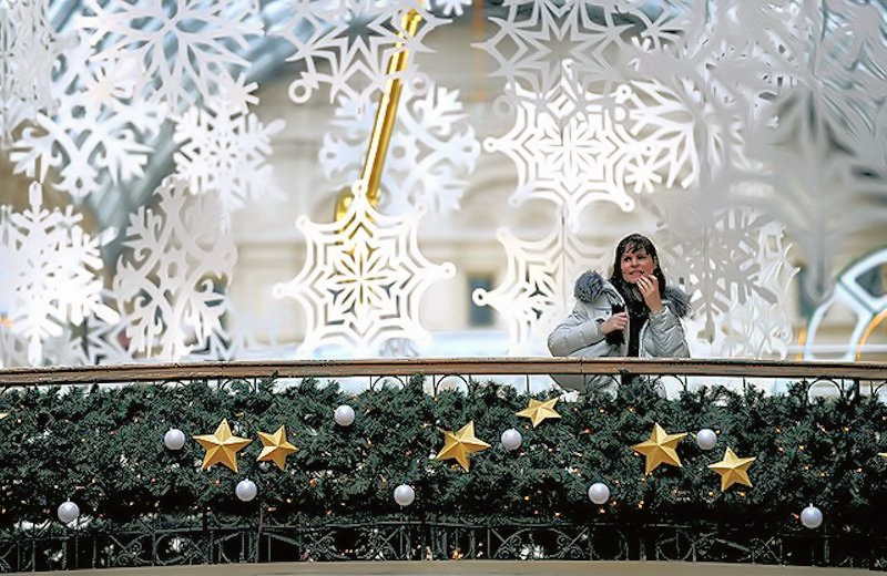 00d Moscow New Year Christmas decorations. 11.12.12