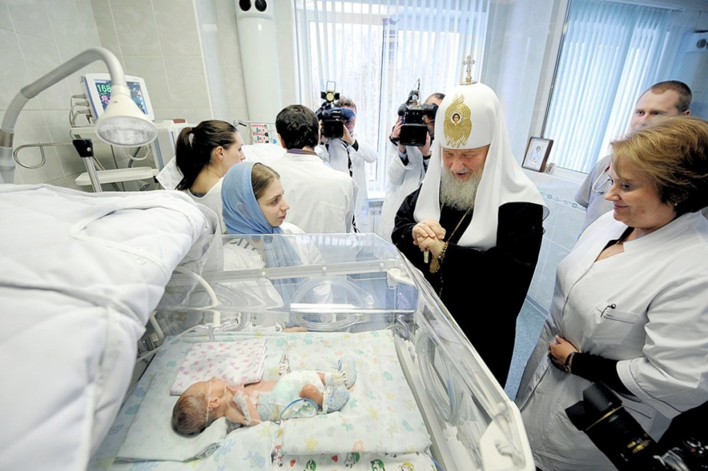 00 Patriarch Kirill. Maternity Home nr 3. 07.01.12