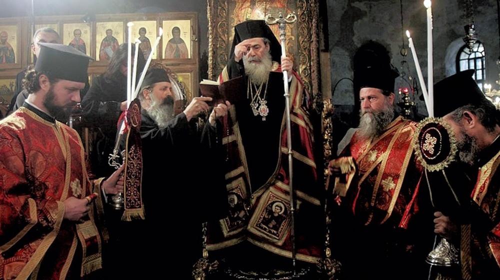 00a Orthodox Christmas 2013. Jerusalem. Patriarch Theophilos. 12.01.13
