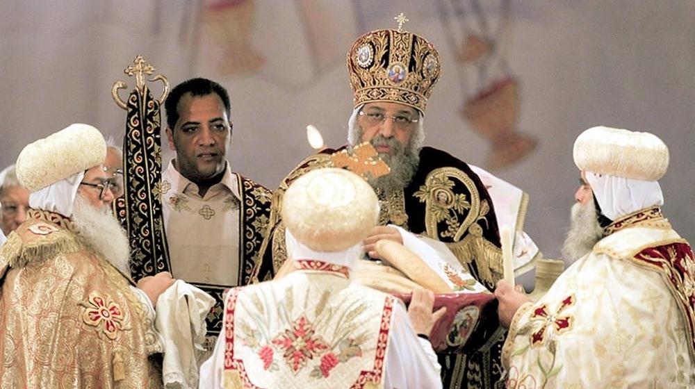 00b Orthodox Christmas 2013. Cairo. Patriarch Tawadros. 12.01.13