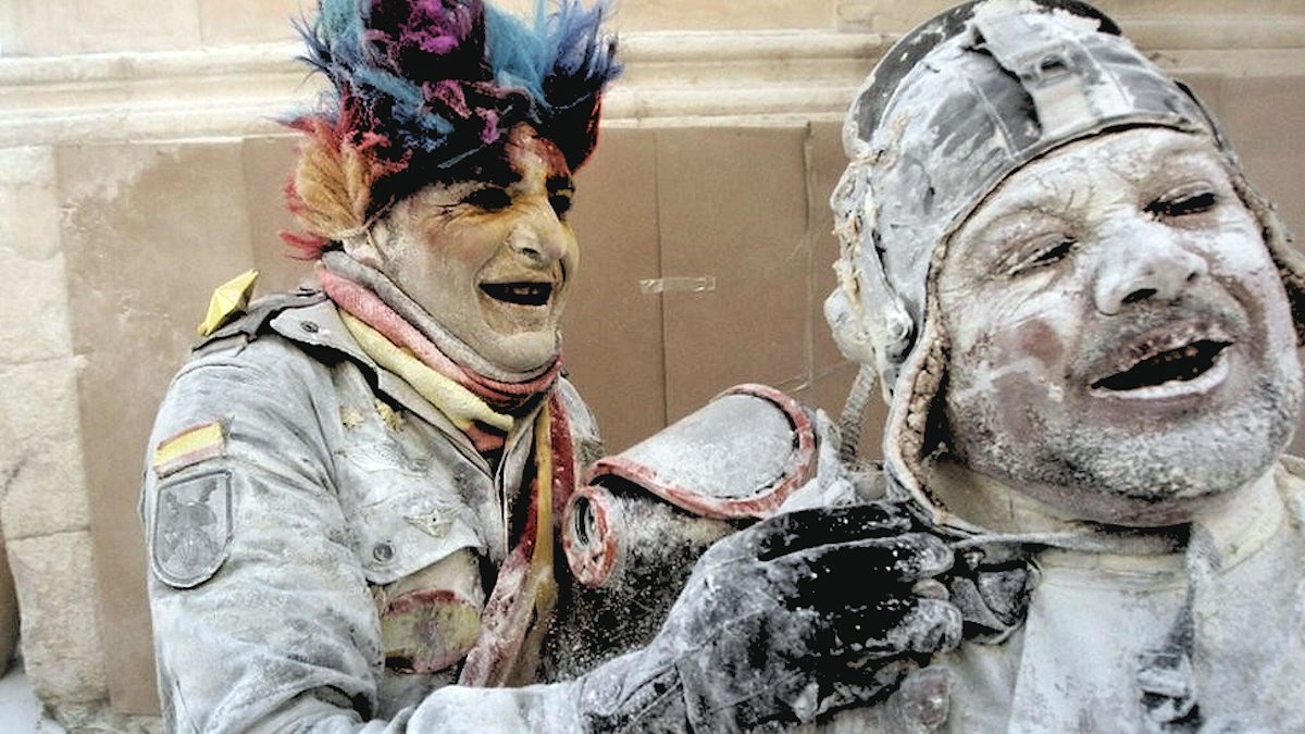 00c Flour War in Spain. Ibi in Valencia. 01.01.13