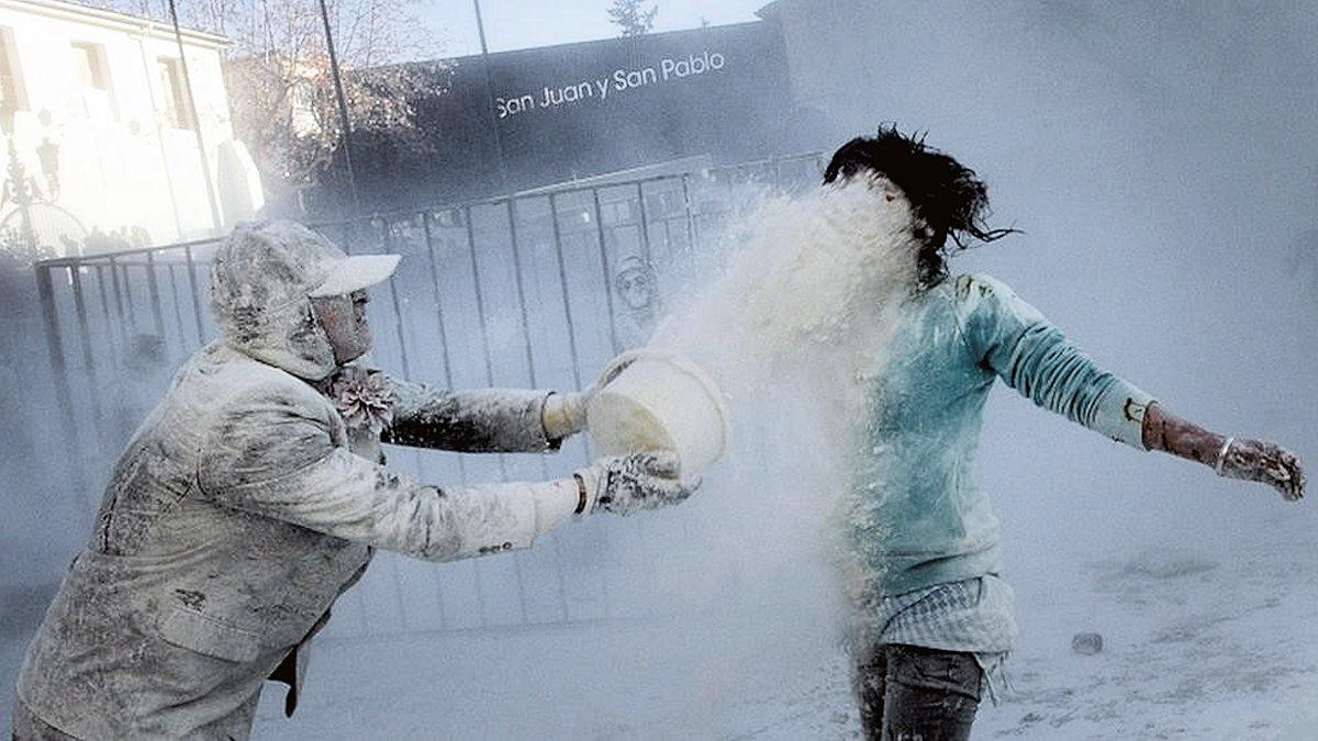 00d Flour War in Spain. Ibi in Valencia. 01.01.13