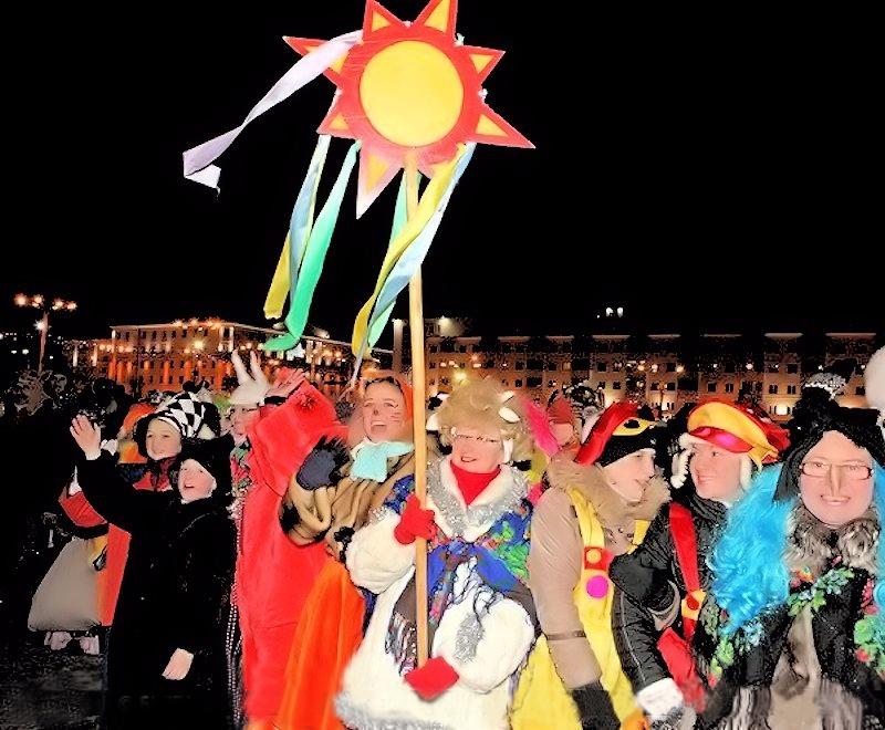 00d Happy Holidays. Belarus Style. 03.01.13. revellers. Vitebsk