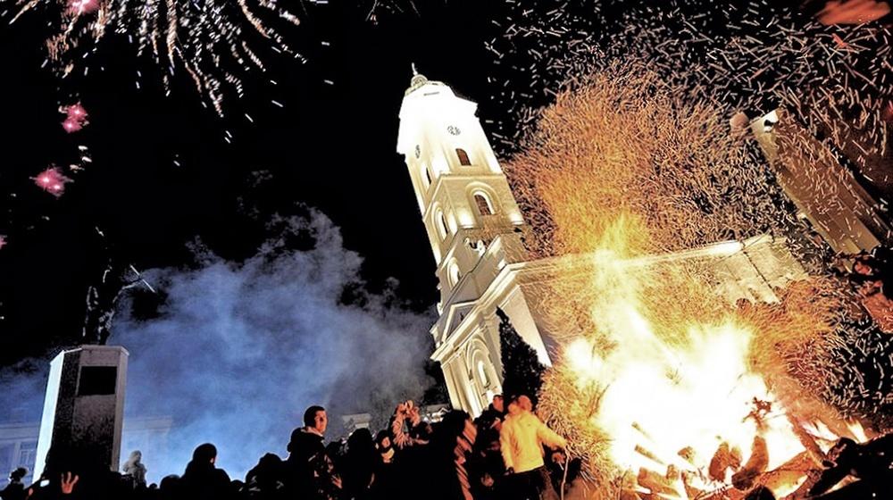 00d Orthodox Christmas 2013. Serbia. Badnjak. 12.01.13