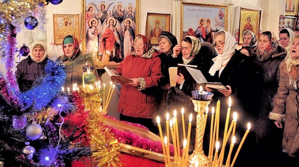 00e Orthodox Christmas 2013. Belarus. Verbovichi. 12.01.13