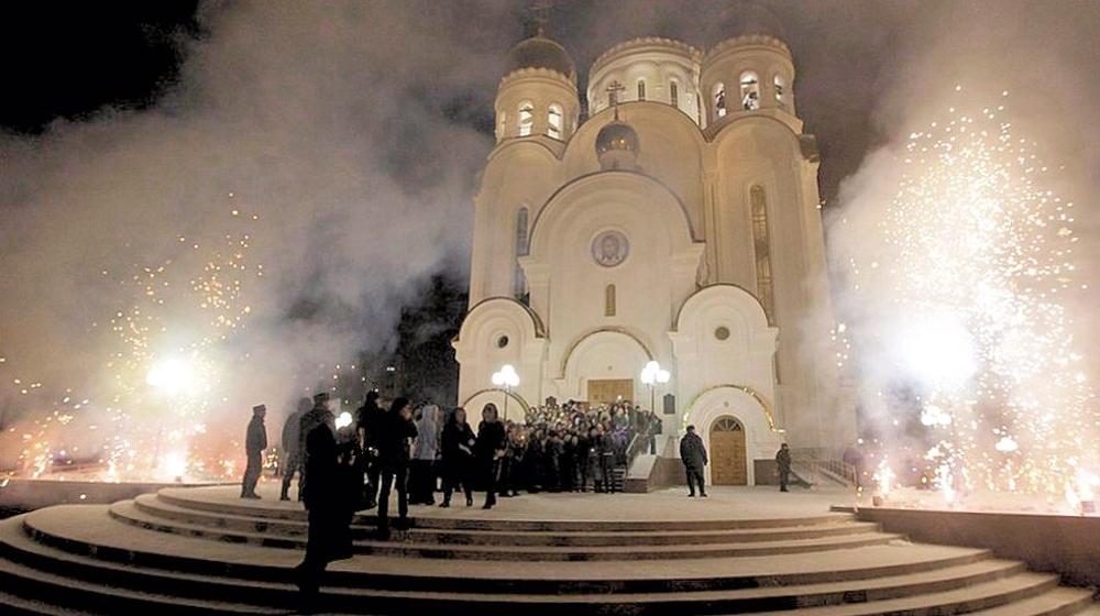 00h Orthodox Christmas 2013. Russia. Krasnoyarsk. 12.01.13