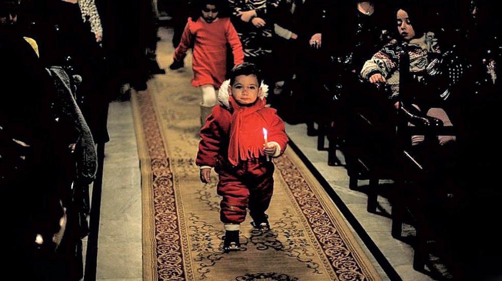 00i Orthodox Christmas 2013. Gaza. Palestine. 12.01.13