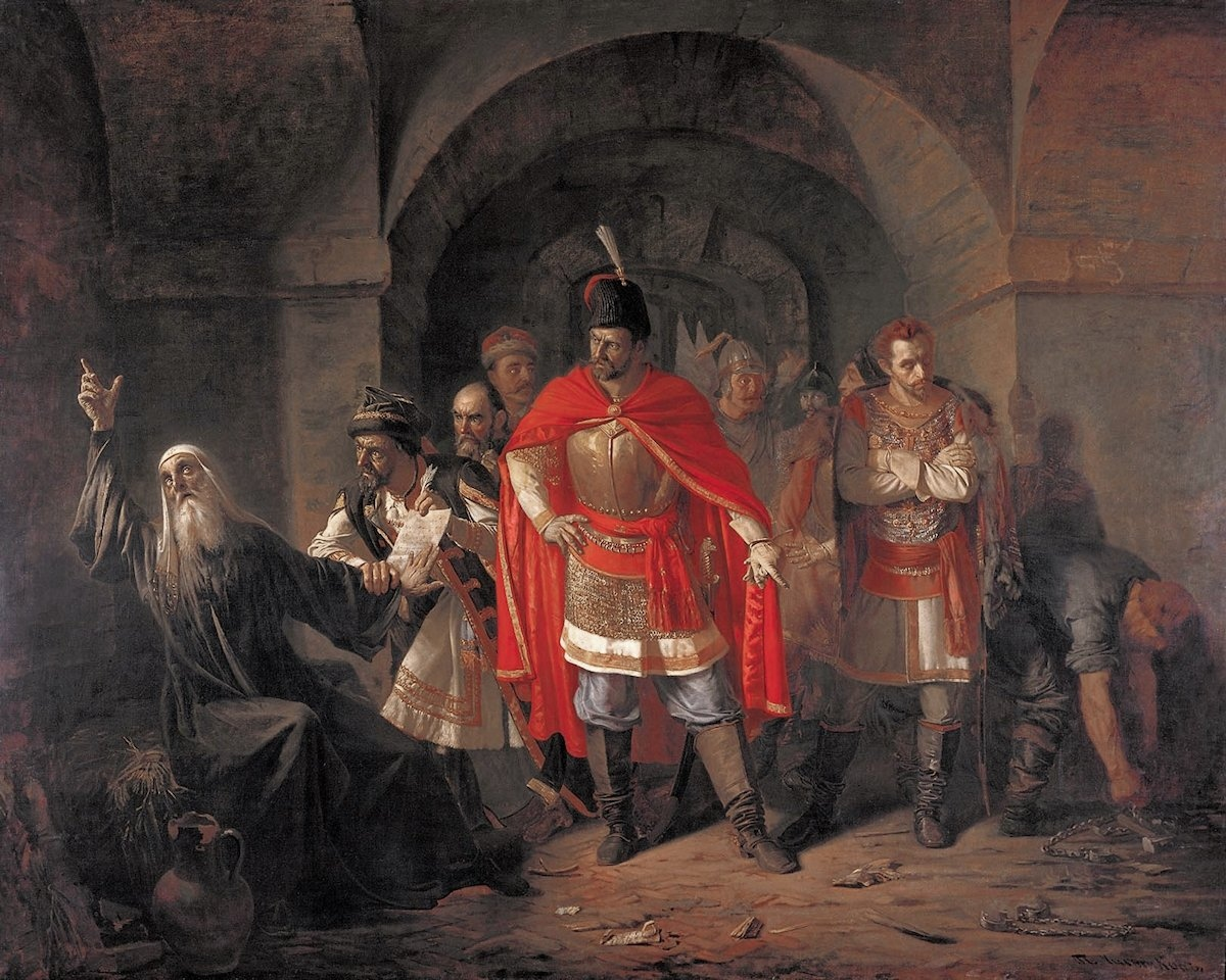 Pavel Chistyakov. Patriarch St Germogen Refuses to Sign the Polish Decree. 1860