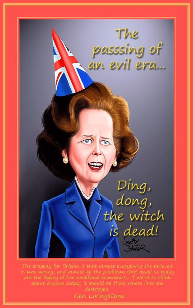 00 Margaret Thatcher caricature. 09.04.13