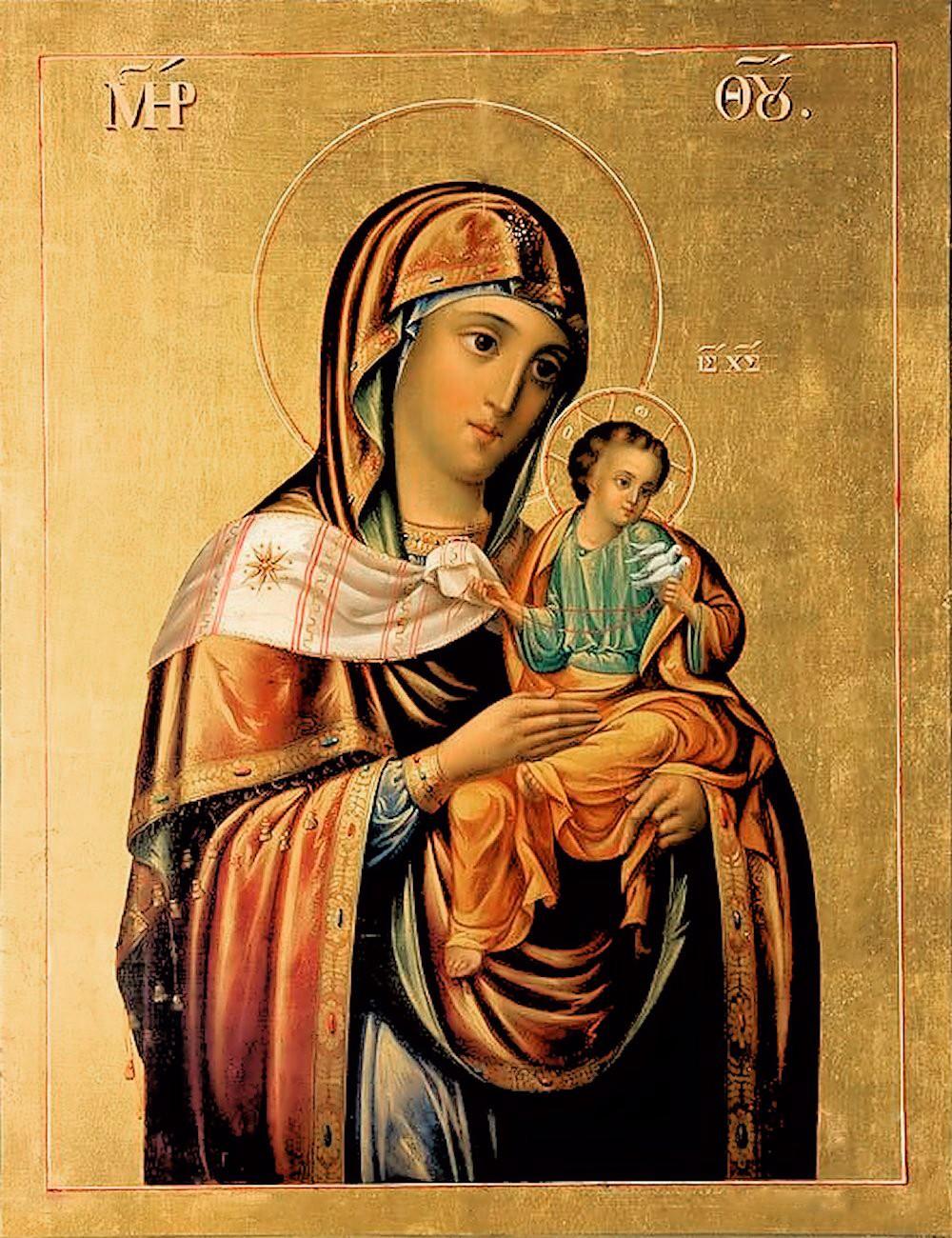 ... Unknown Artist. Mother of God 'of Konevskaya'. 19th century Russian: https://02varvara.wordpress.com/2013/05/08/russian-icons-at-knights...