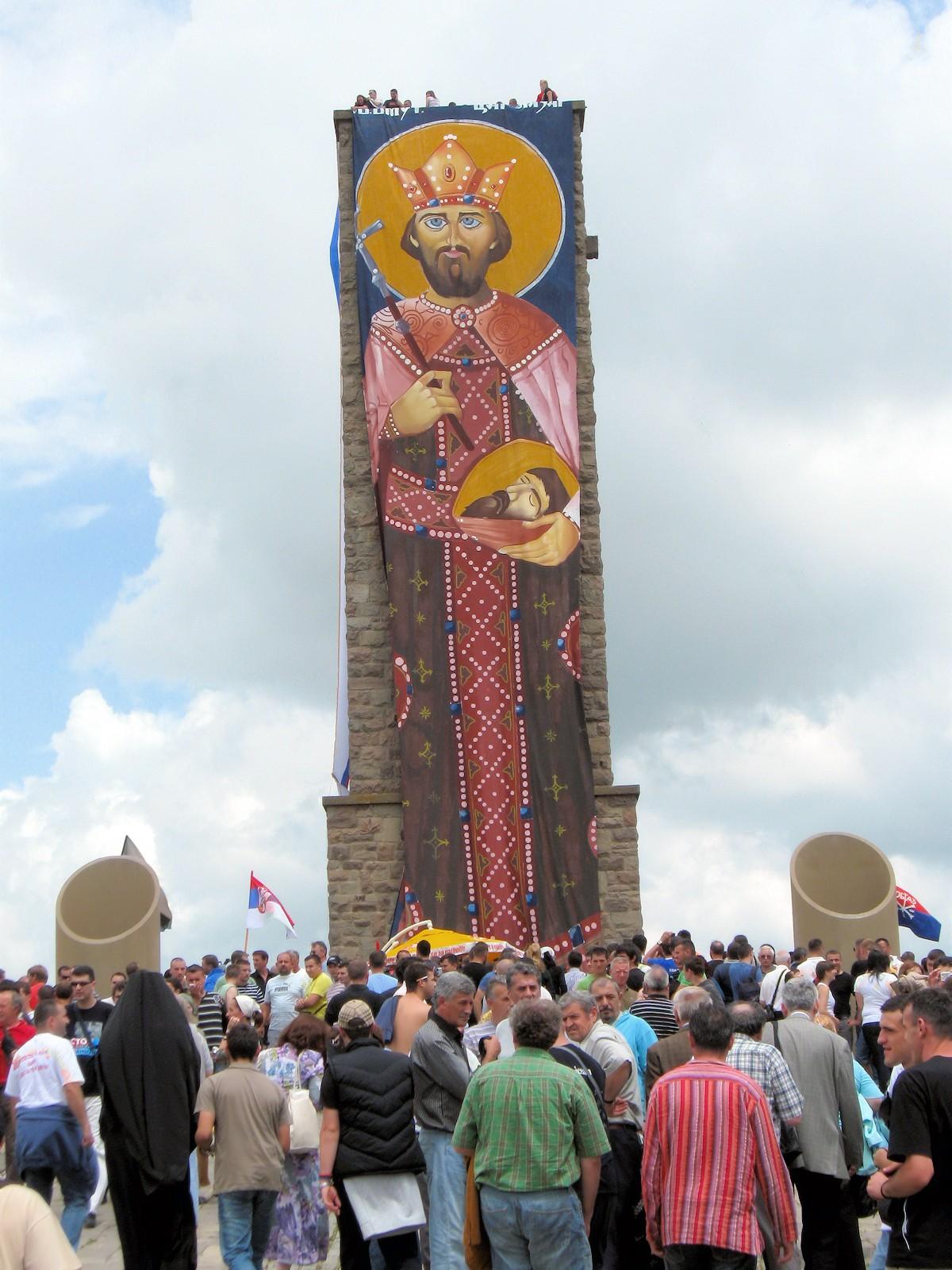00 The Battle of Kosovo memorial at Gazimestan for Vidovdan in 2009. 30.06.13