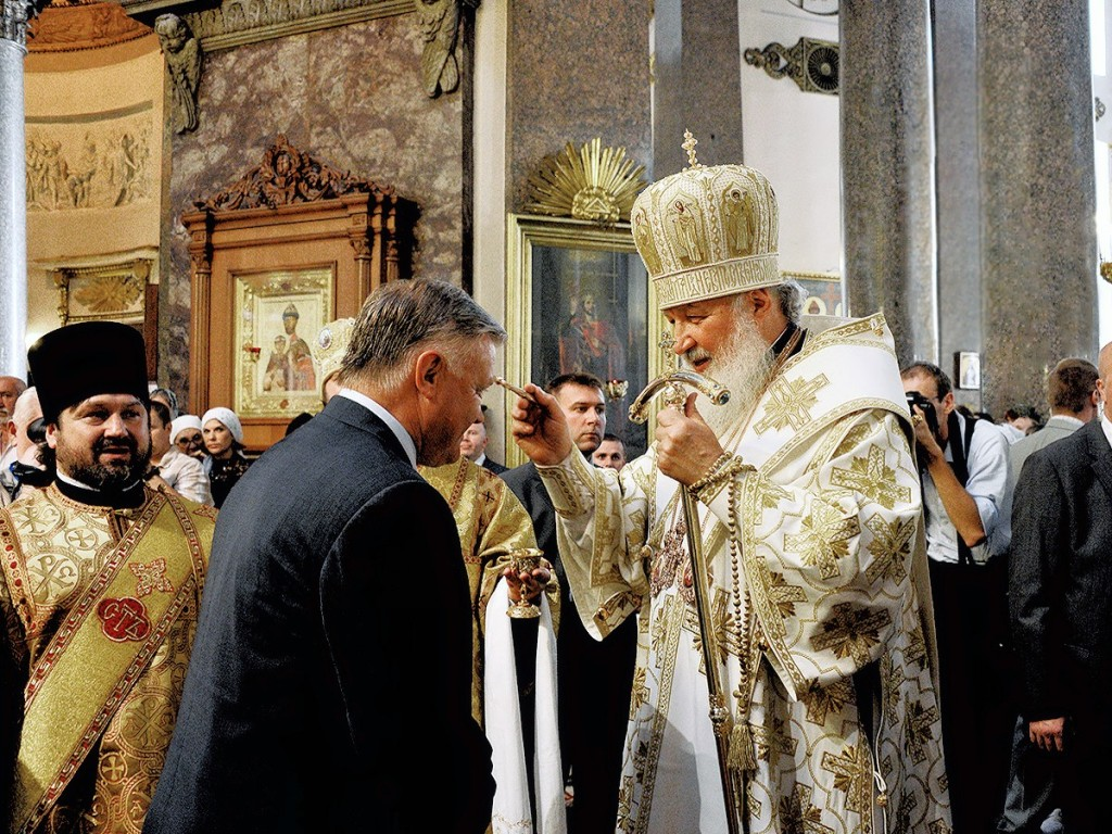 00 Cross of St Andrew. St Petersburg. Patriarch Kirill. Vladimir Yakunin. 16.07.13