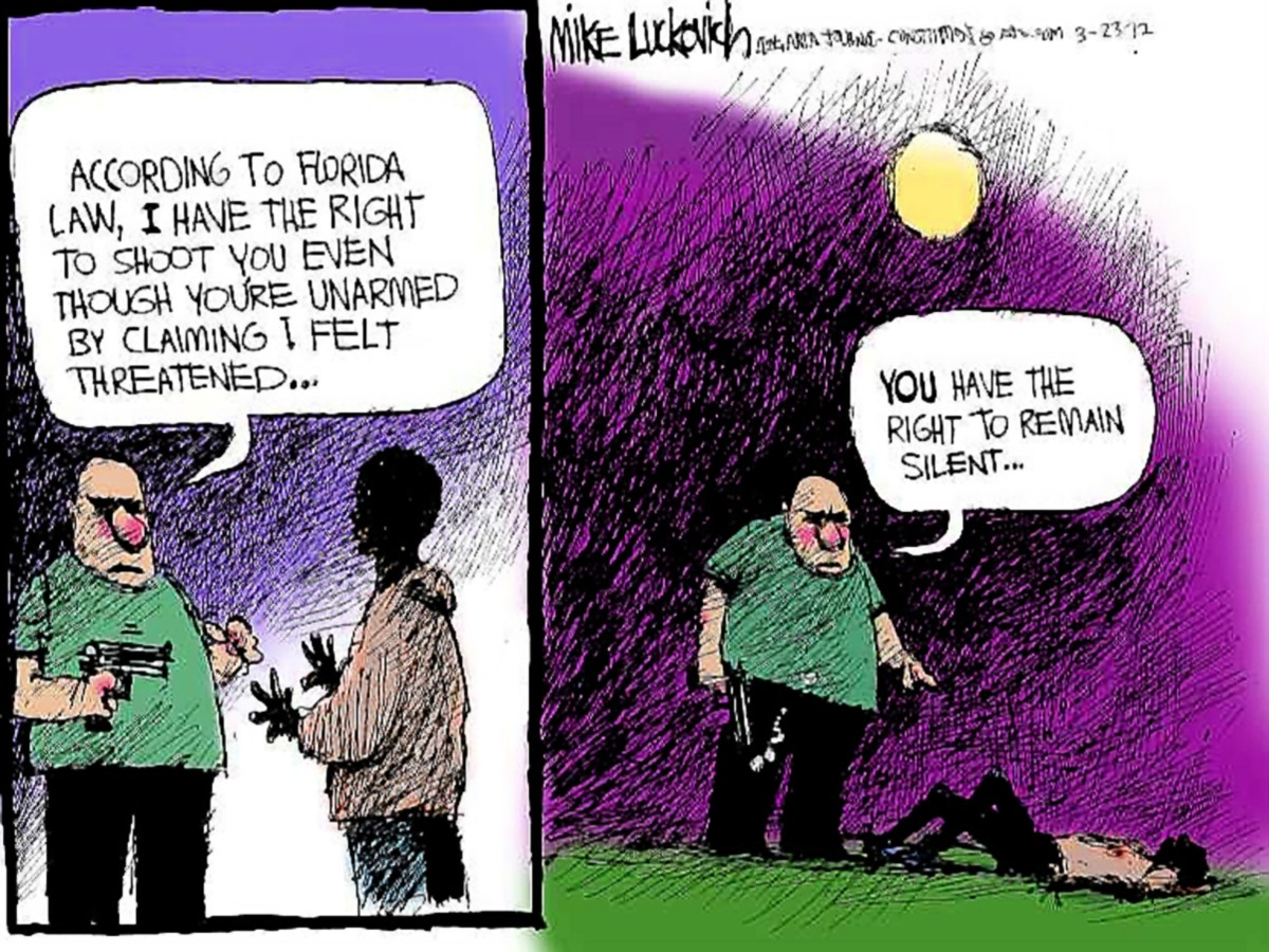 00 Zimmerman. cartoon stand your ground silence. 16.07.13