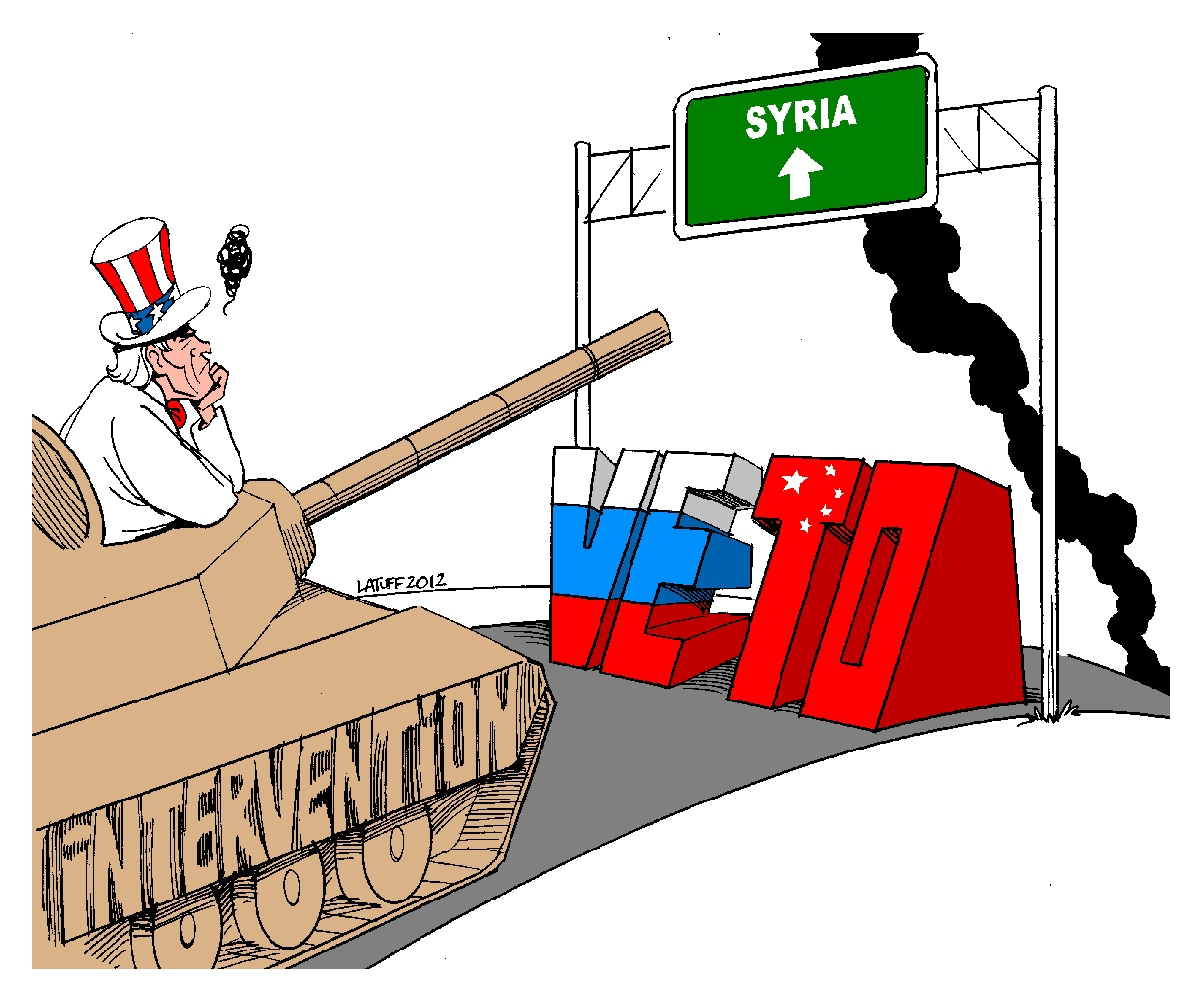 00 Carlos Latuff. Russia and China Veto against US Intervention in Syria. 2012