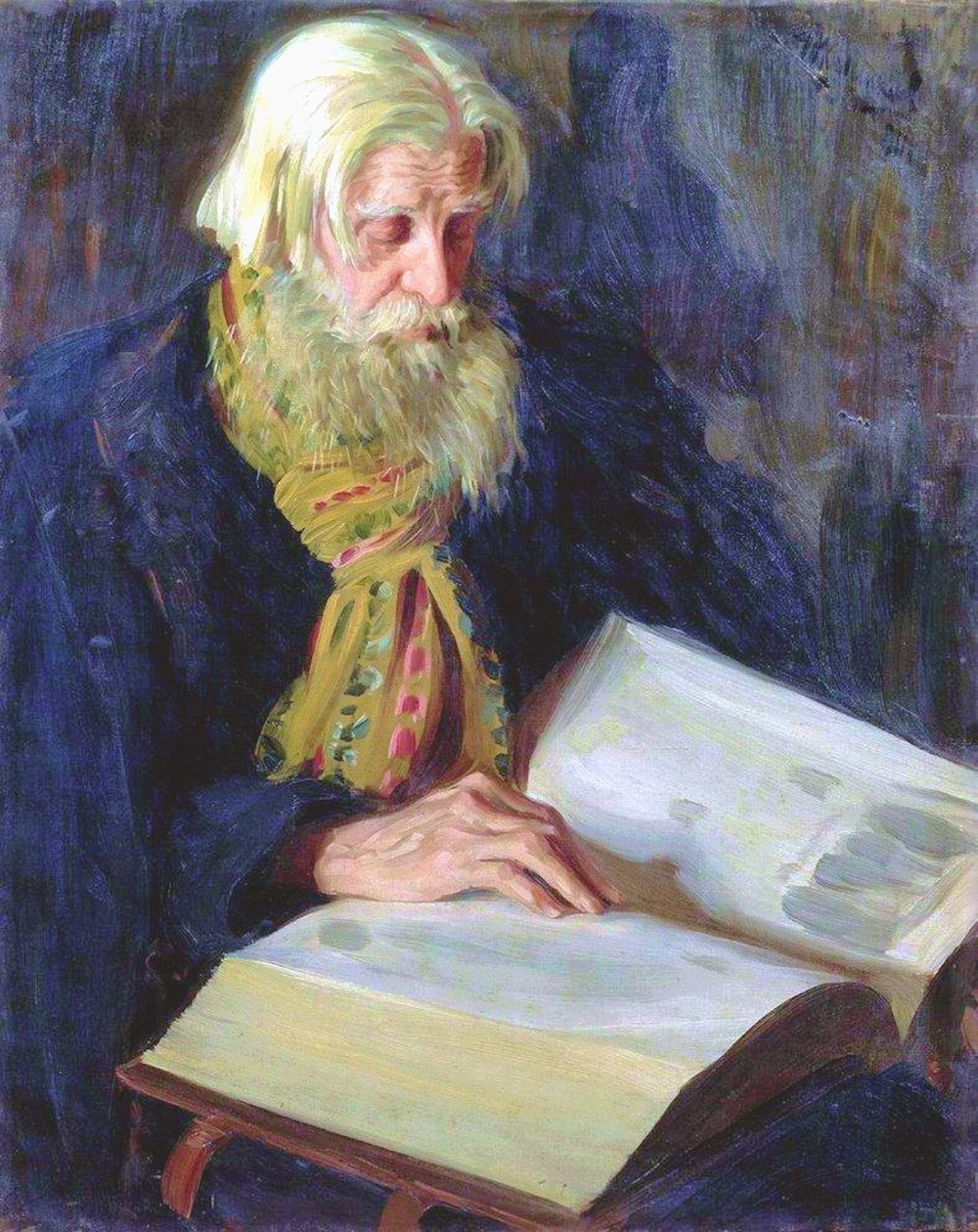 00 Ivan Kulikov. An Old Ritualist Elder at Study. 1911
