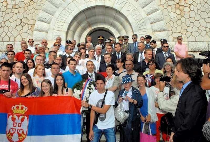 00 Serbian patriots on Vido. Greece. Serbian war memorial. 27.09.13