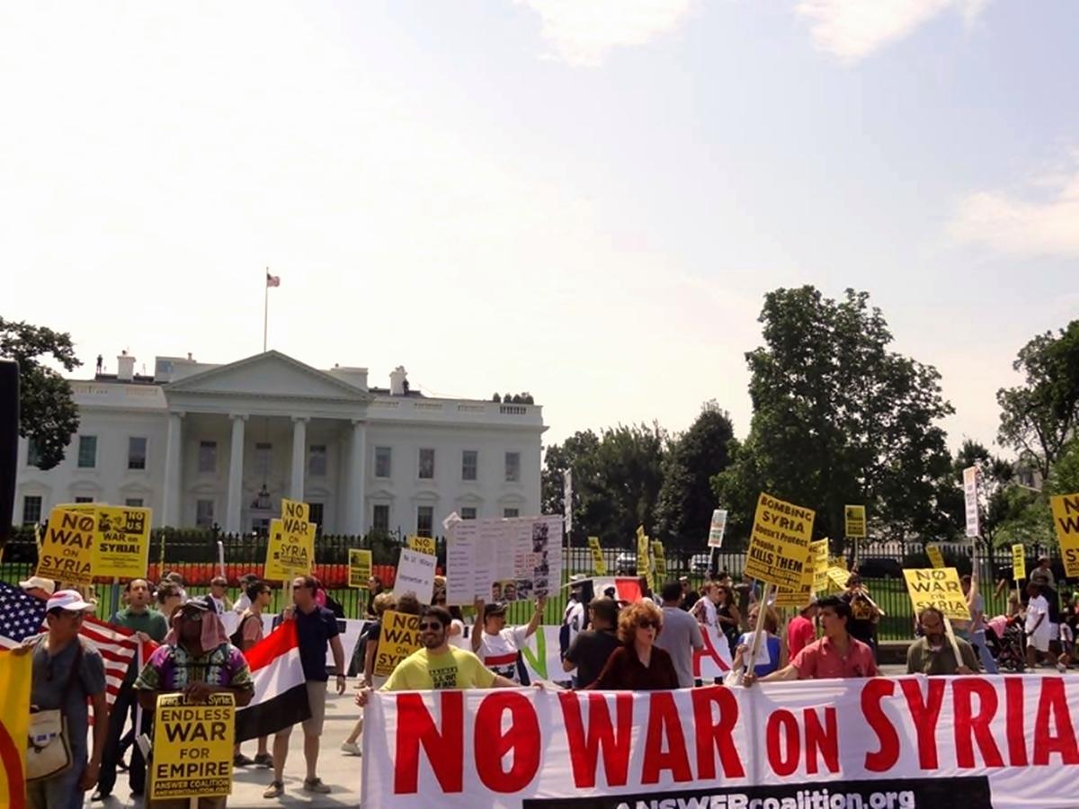 00 Washington DC. Anti-War Syria protest. 07.09.13