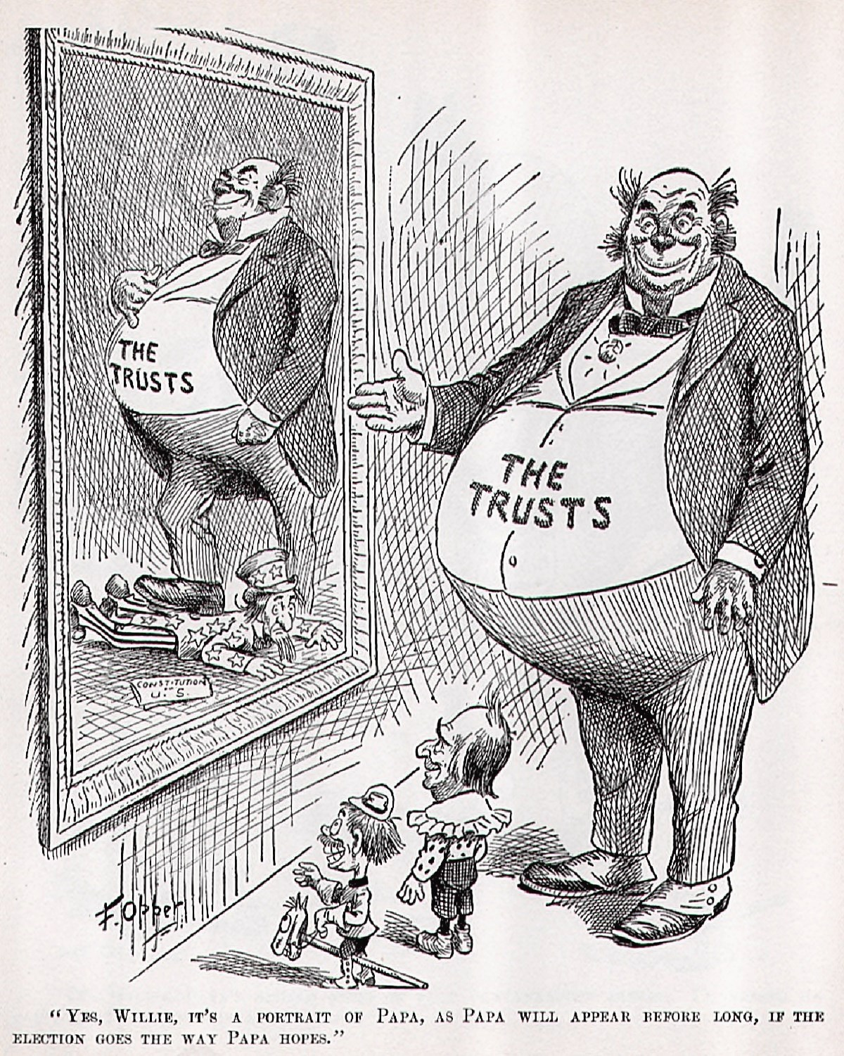 00 Willie and His Papa. US Political Cartoon. 1900. 06.09.13