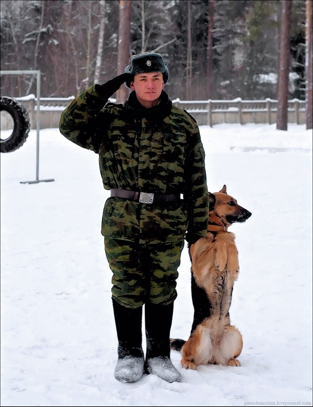 00 Russian army soldier with dog. 02.10.13