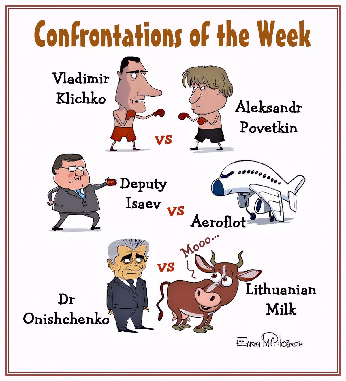 00 Sergei Yolkin. Events of the Week in Cartoons by Sergei Yolkin. 7-11 October 2013. 2013