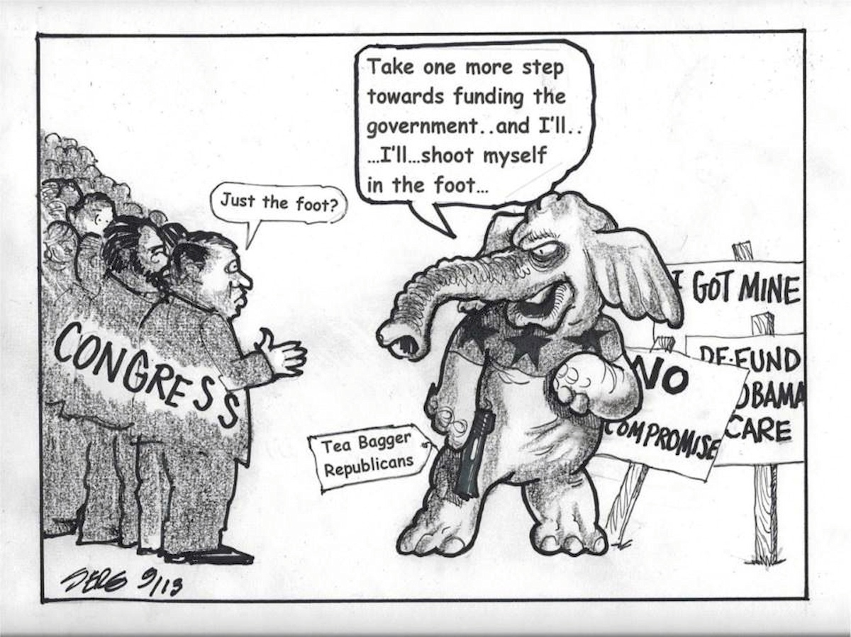 00 US government shutdown. political cartoon 3. 17.10.13