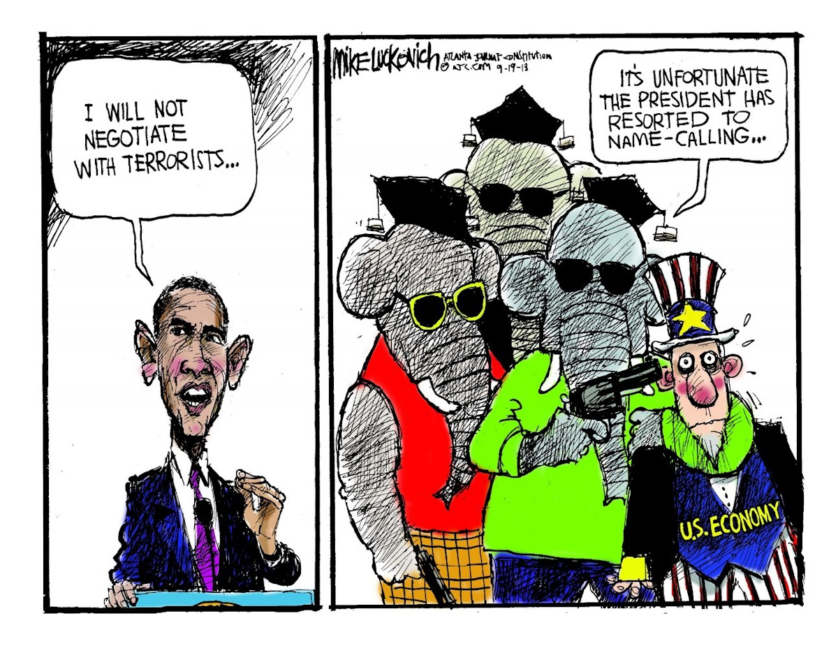 00 US government shutdown. political cartoon 4. 17.10.13