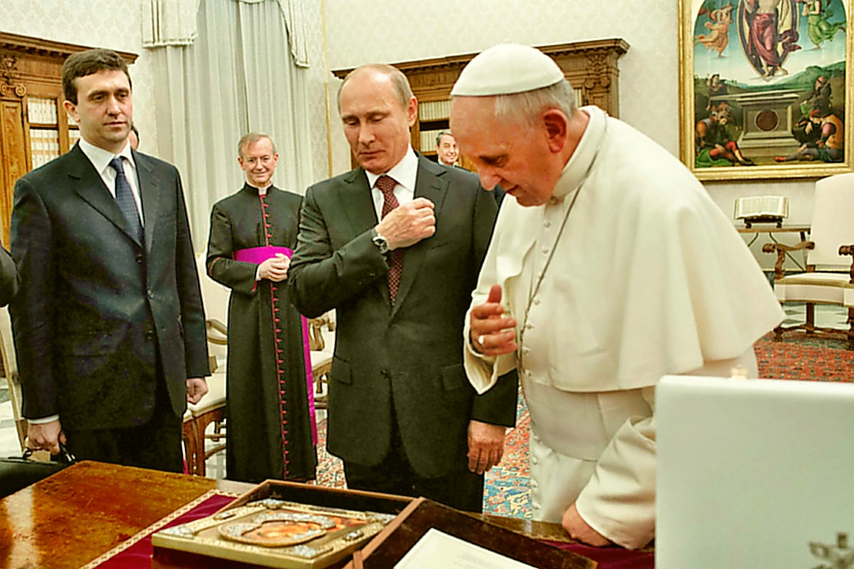 00 Putin and Pope Francisco. 26.11.13