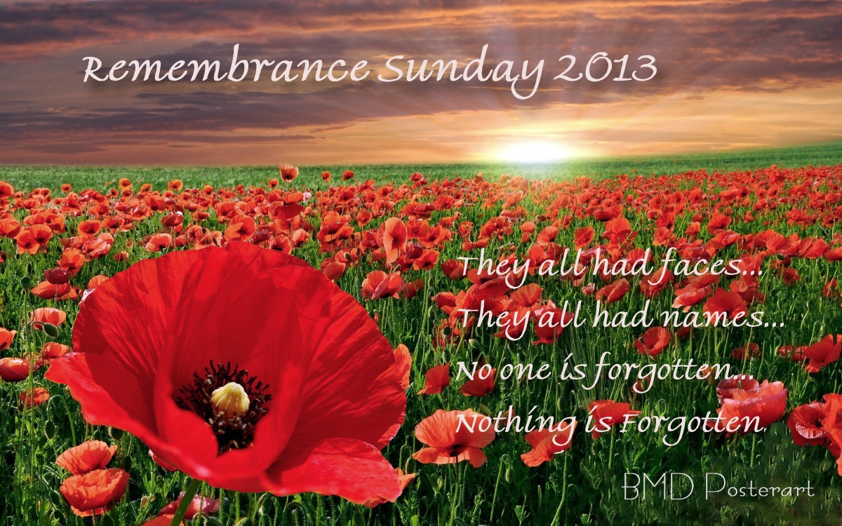00 Remembrance Sunday 2013. 10.11.13
