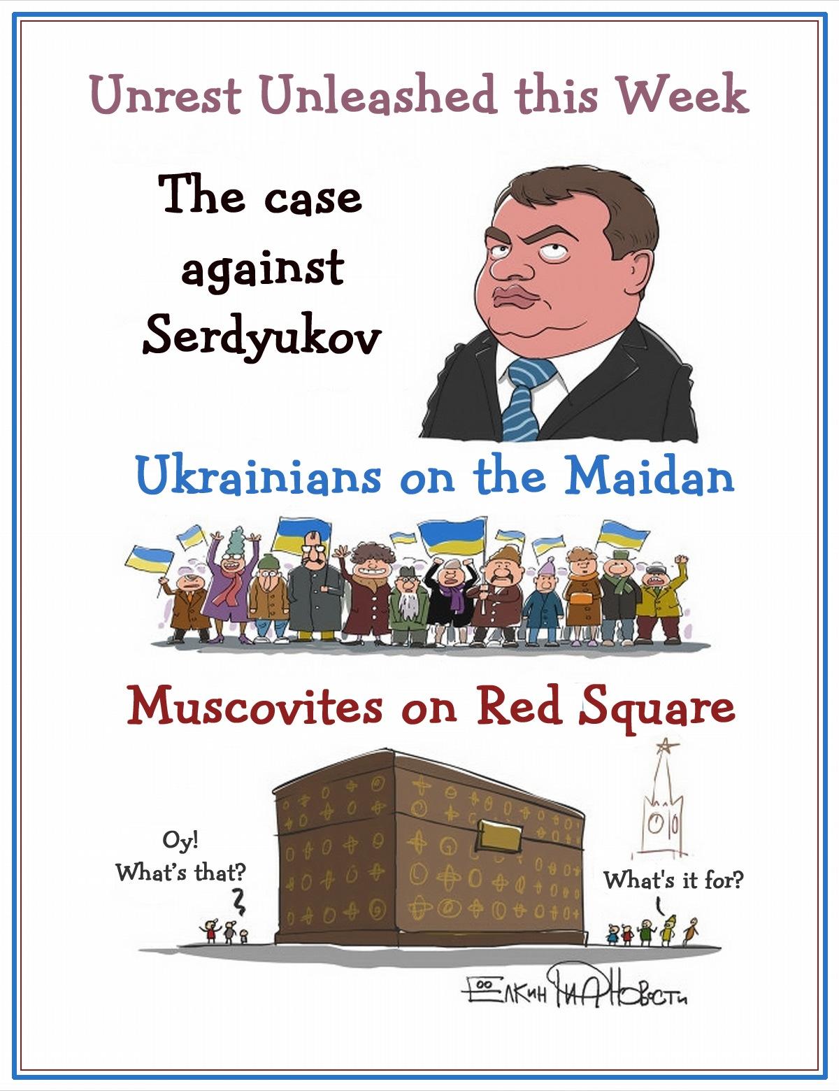 00 Sergei Yolkin. Events of the Week in Cartoons by Sergei Yolkin. 25-29 November 2013. 2013
