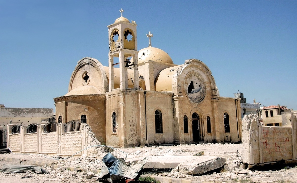 00 Destroyed Syrian Church. 09.12.13