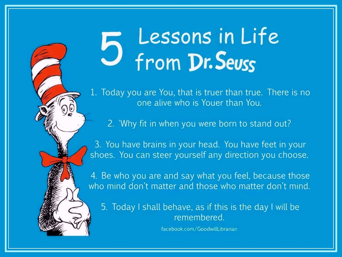 Giant leaps to Success: 5 Lessons in Life from Dr.Seuss!