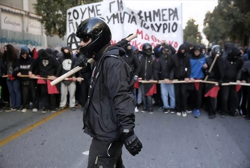 00 Greek protestors. Athens. 09.12.13