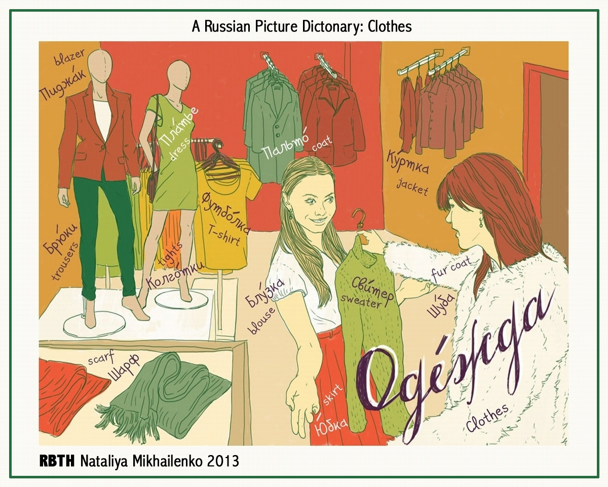 00 Nataliya Mikhailenko. A Russian Picture Dictionary. Clothes. 05.12.13