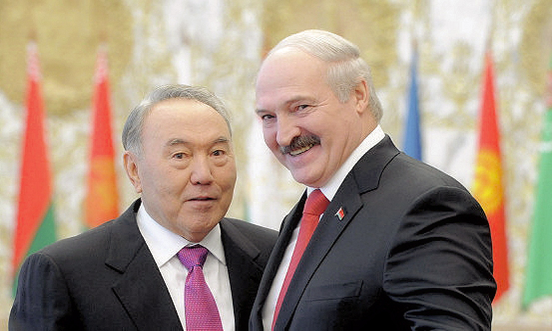 00 Presidents Nazarbayev and Lukashenko. Kazakhstan and Belarus. 11.12.13