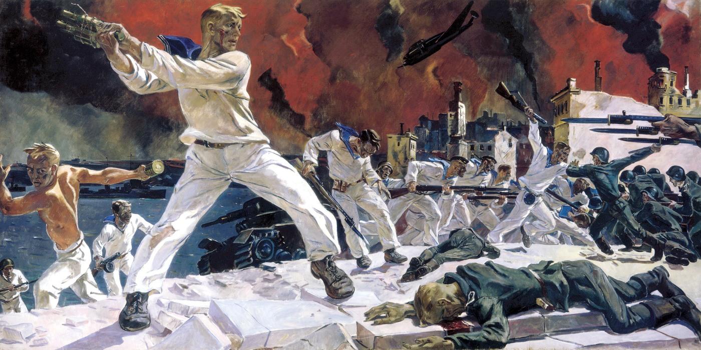 00 Aleksandr Deyneka. The Defence of Sevastopol. 1950s
