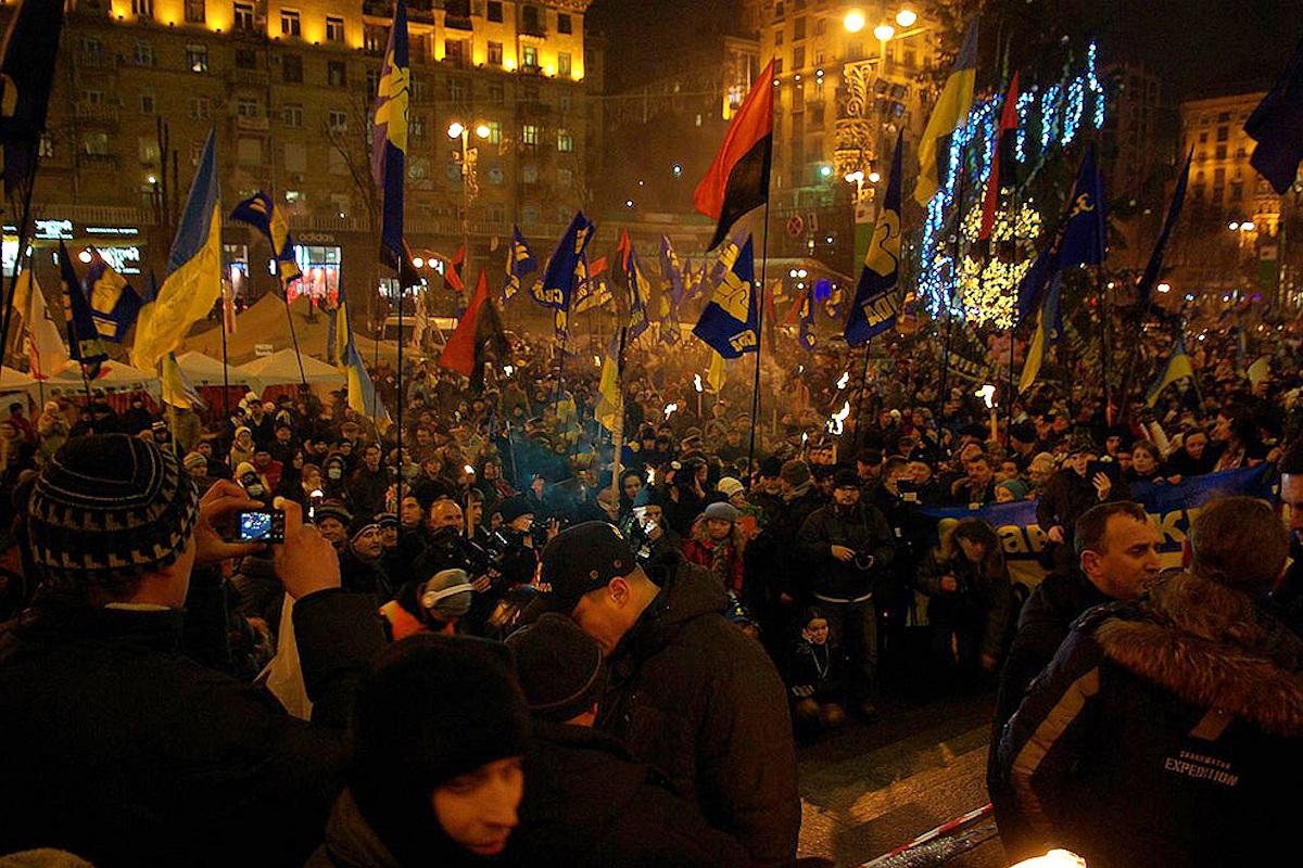 00 Banderovtsy in Kiev. 06.01.14