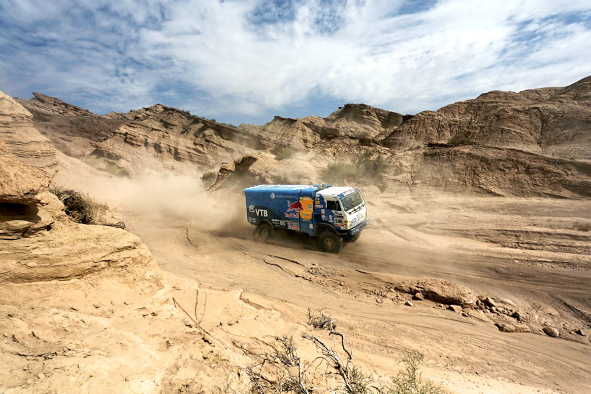 00 KAMAZ truck at Dakar Rally. 11.01.14