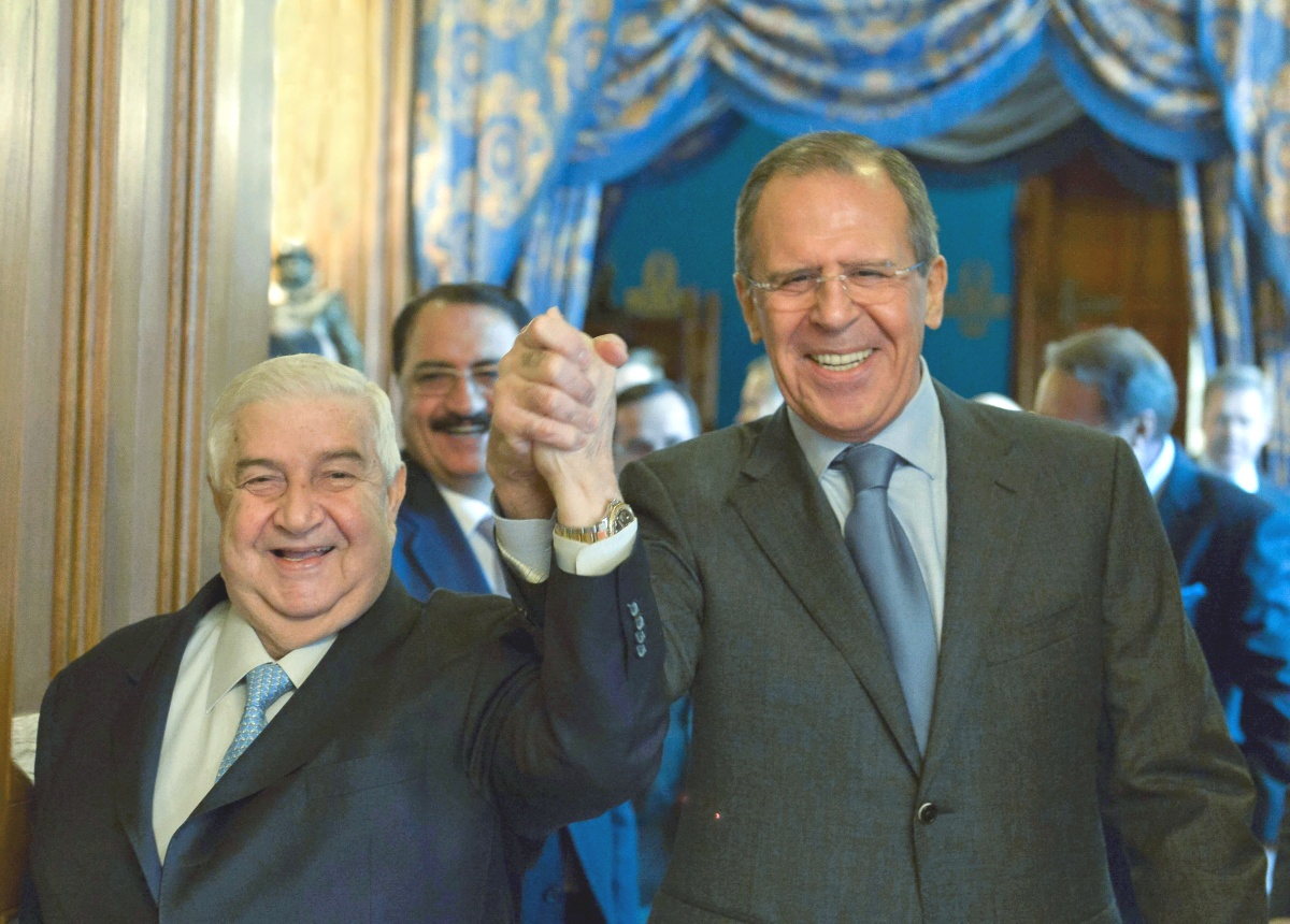 00 Lavrov w Syrian Foreign Minister Walid al-Moallem. Moscow. 19.01.14