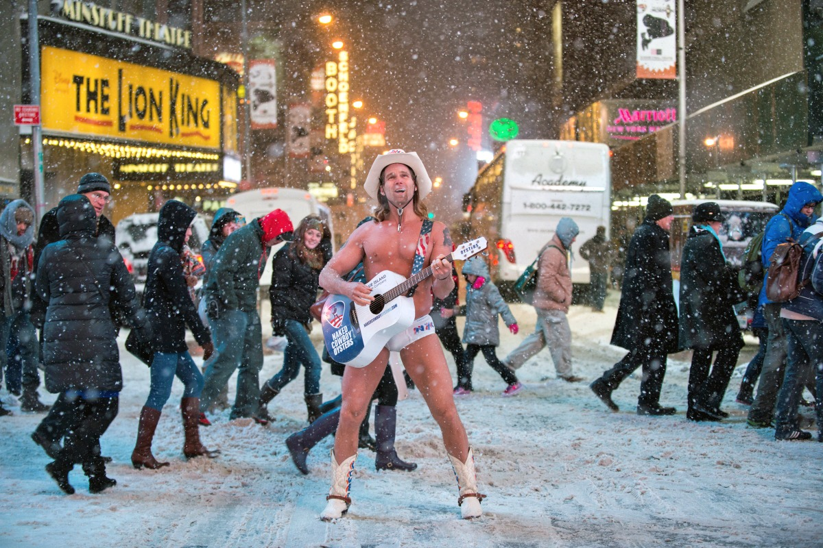 00 Naked Cowboy. Times Square. 22.01.14. New York NY. 25.01.14